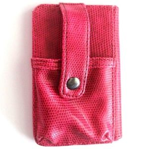 Pink Faux leather Snake Skin Clutch, Wallet, Phone